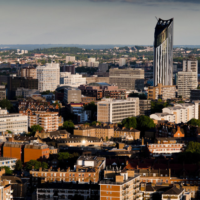 """""""Strata SE1 Building, Elephant and Castle, Looking South, Southwark"""" stock image"""