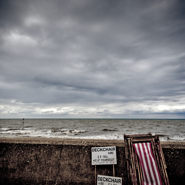 """Hunstanton, Norfolk, Britain"" stock image"