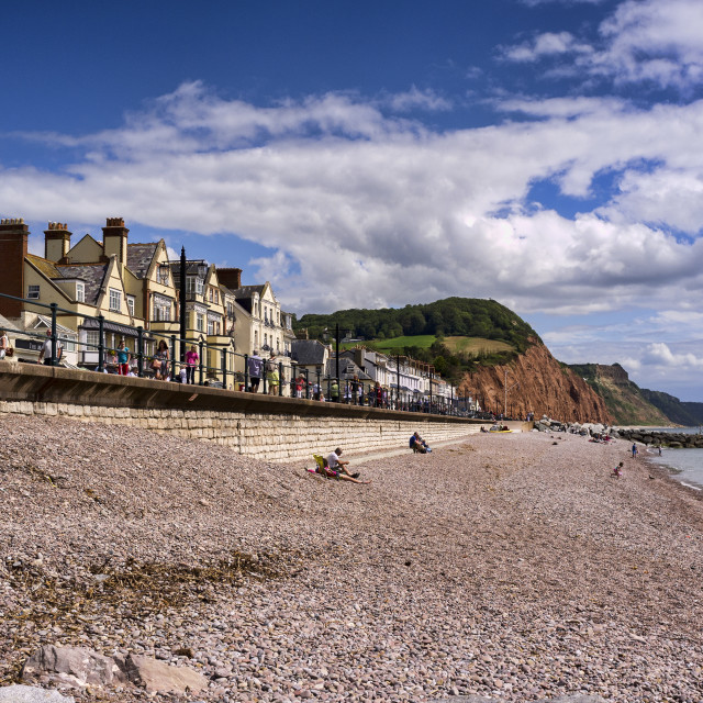 """Sidmouth, Devon, Britain"" stock image"