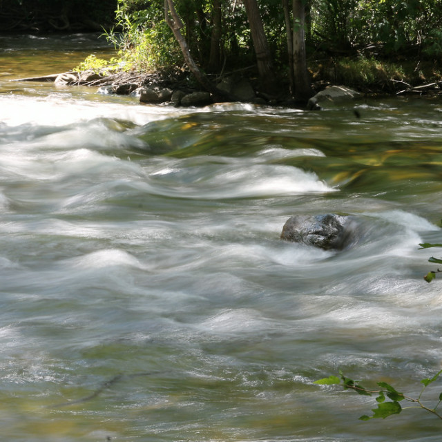 """Huron River, Dexter, Michigan"" stock image"