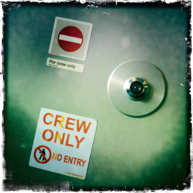 """CREW ONLY"" stock image"