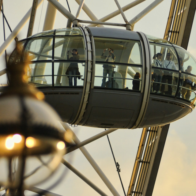 """The London Eye / Millennium Wheel"" stock image"
