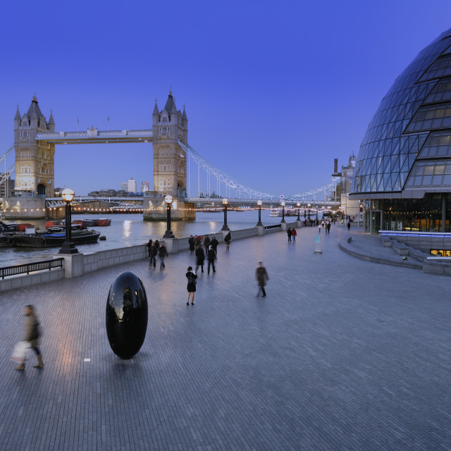 """Tower Bridge and City Hall"" stock image"