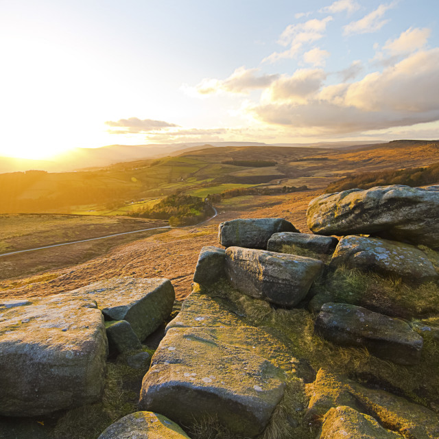 """view to kinder scout"" stock image"