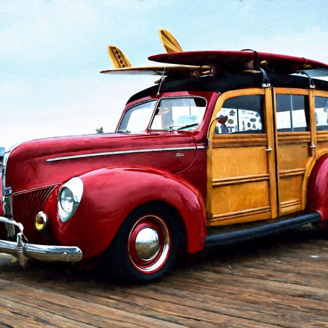 """""""Beach Cruiser"""" stock image"""