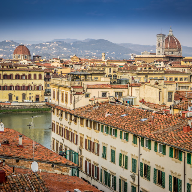"""Rooftops of Florence"" stock image"