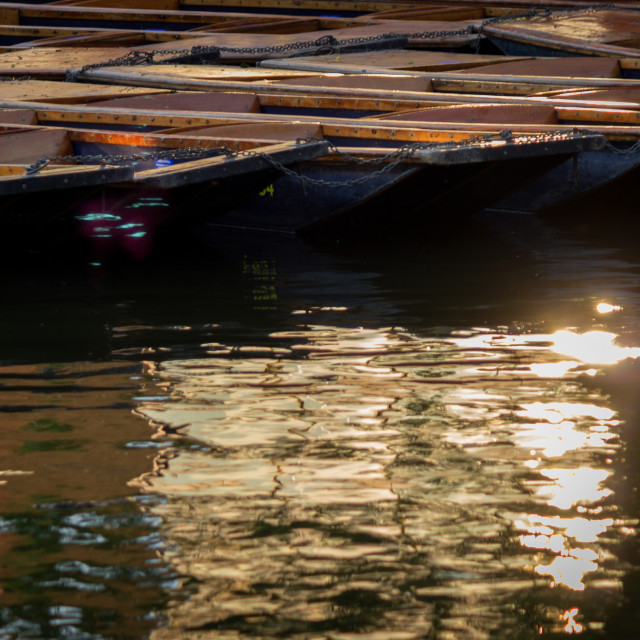 """Punts on the river"" stock image"