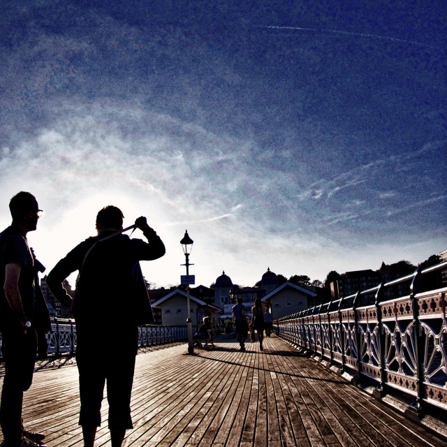 """On The Pier"" stock image"
