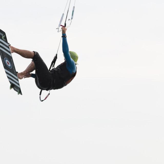 """Sun Smart Kite Surfing"" stock image"