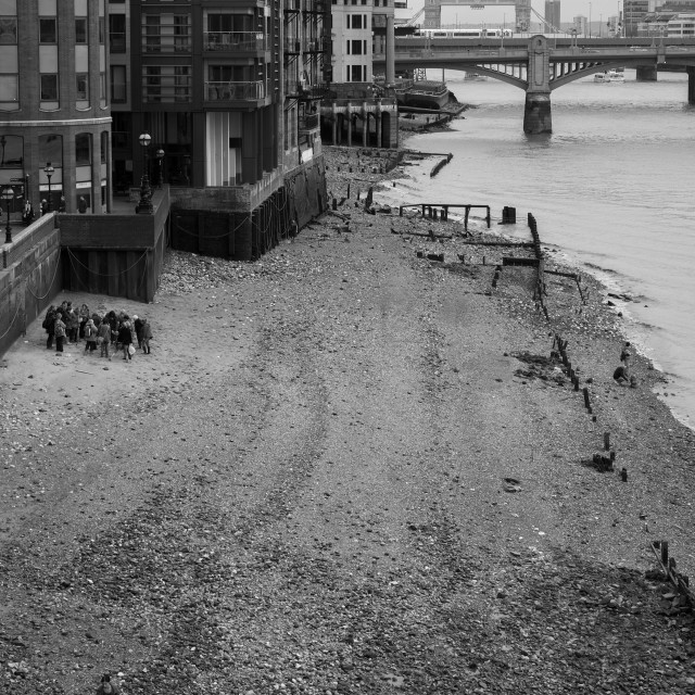 """Thames at Low Tide"" stock image"