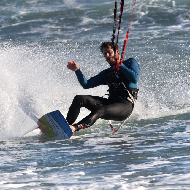 """Relaxed Kitesurfer Games"" stock image"