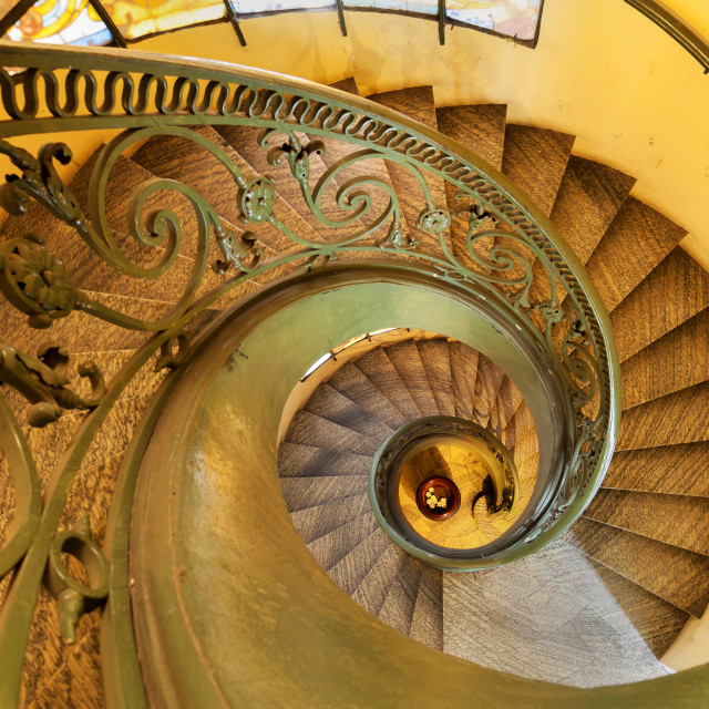 """Ho Chi Minh City Fine Arts Museum winding staircase"" stock image"