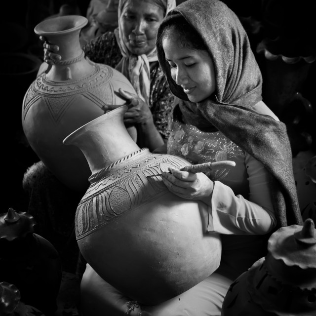"""Vietnam craft photo : The ceramic maker"" stock image"