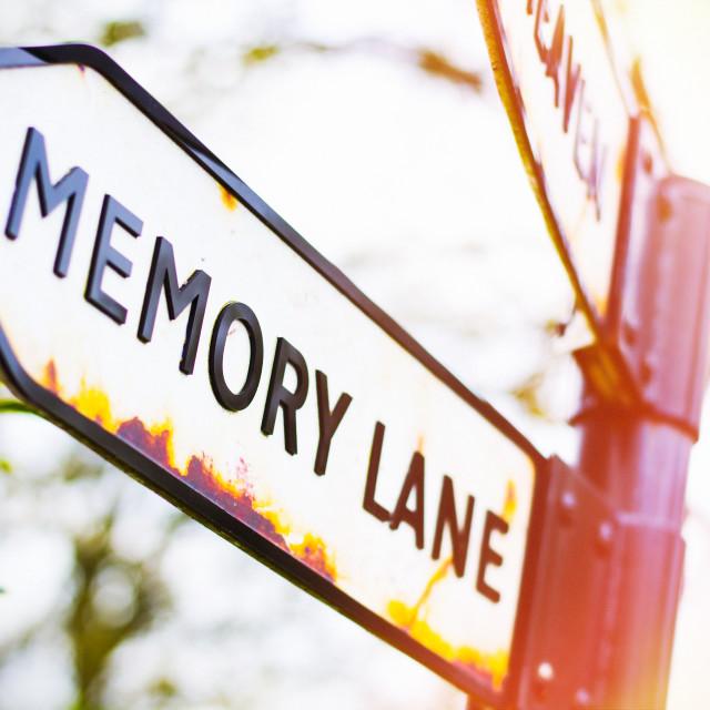 """Down Memory Lane"" stock image"