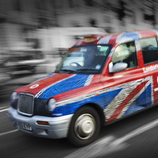 """Flag down a taxi"" stock image"