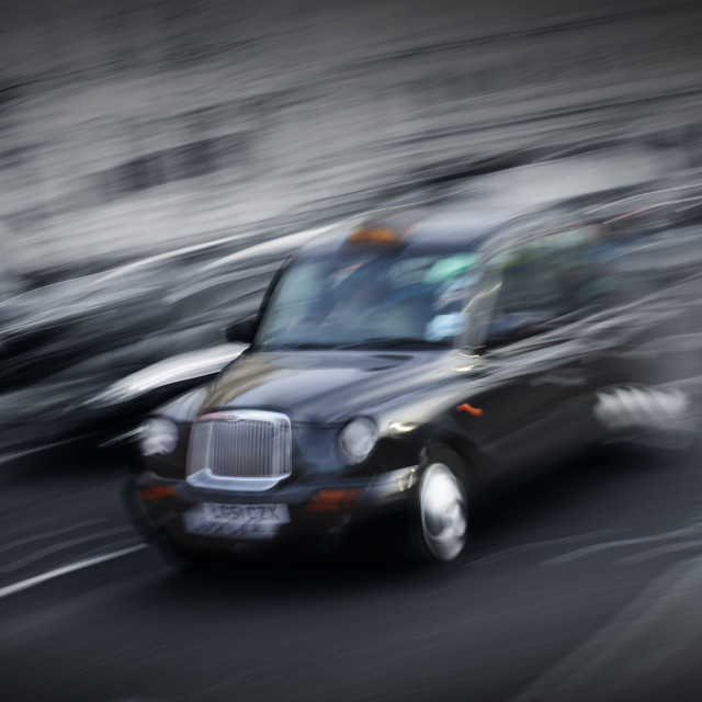 """""""London Taxi II"""" stock image"""