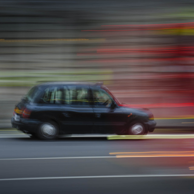 """London Taxi Lights"" stock image"