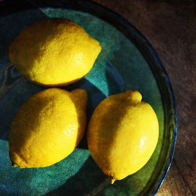 """Three Lemons"" stock image"