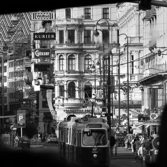 """Vienna street"" stock image"