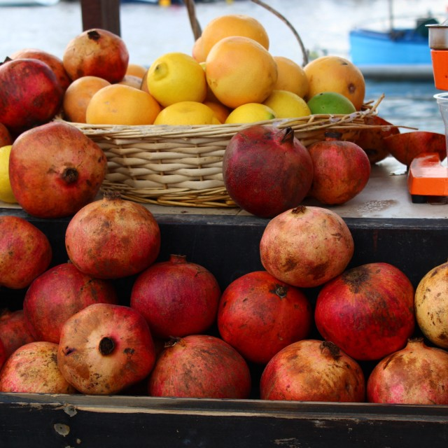 """""""Fruit juice stand"""" stock image"""