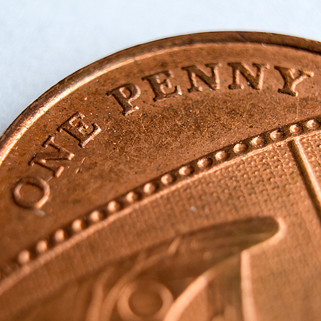 """""""The Detail of a Penny"""" stock image"""