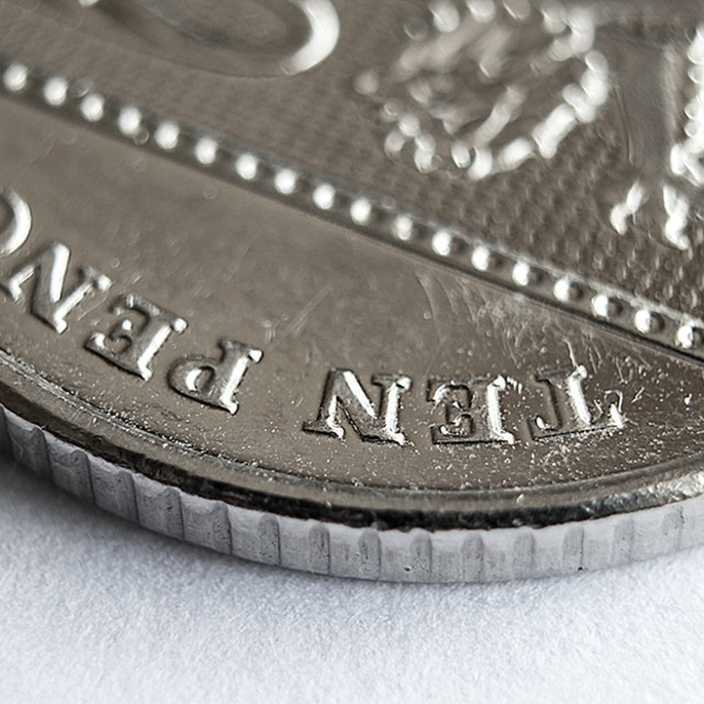 """Ten Pence Detail"" stock image"