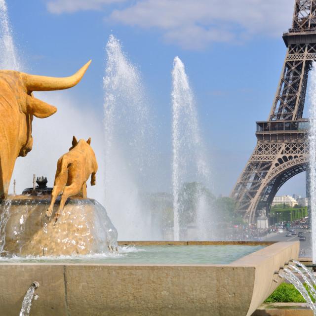 """Trocadero Fountain (Paris)"" stock image"
