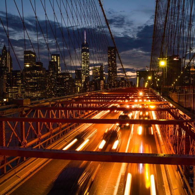 """""""Brooklyn Bridge - NY City"""" stock image"""