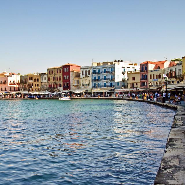 """Crete - Chania Harbour"" stock image"