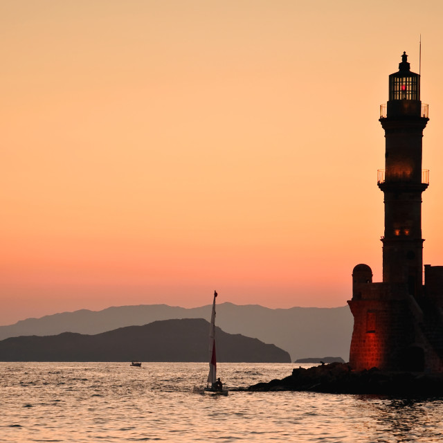 """Crete - Chania Harbour"" stock image"