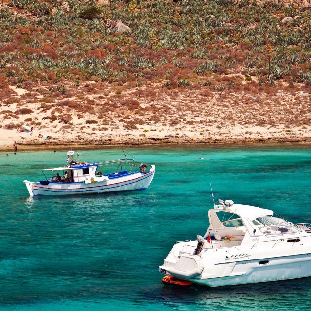 """Crete - Gramvoussa Island"" stock image"