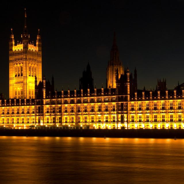 """London - Parliament at Night"" stock image"