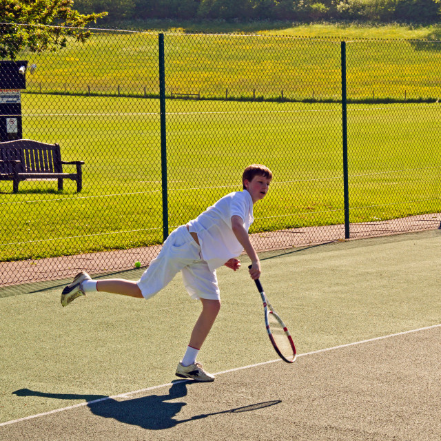 """Youth Playing Tennis"" stock image"