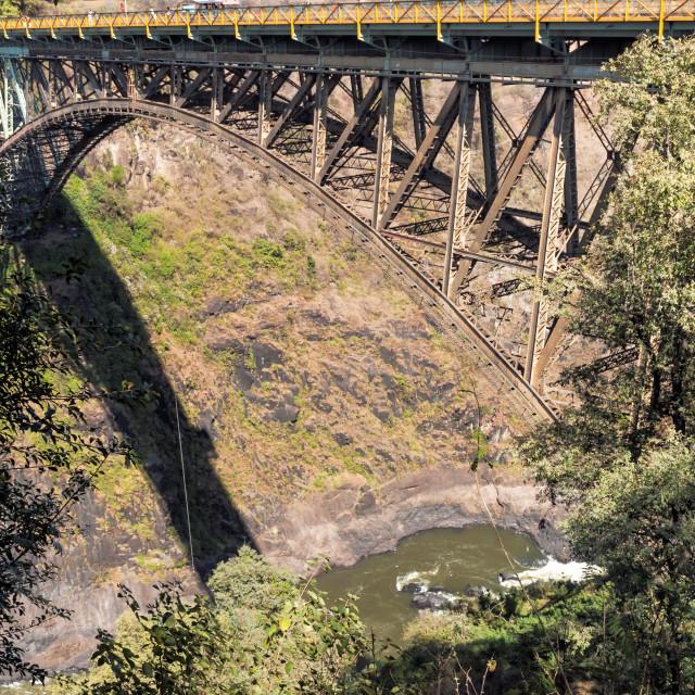 """Zimbabwe - Victoria Falls Bridge"" stock image"