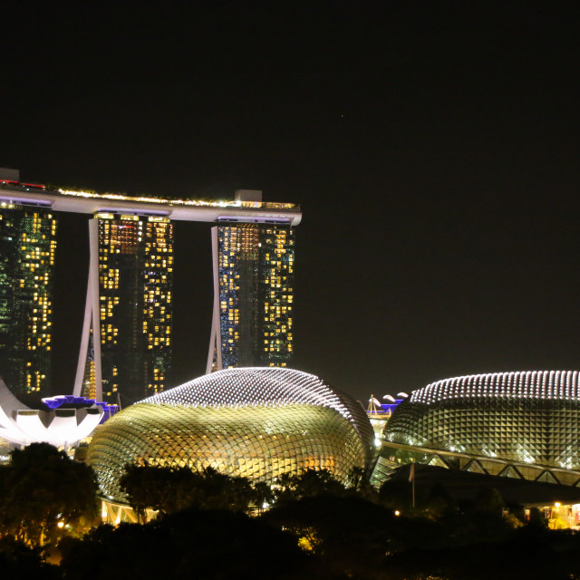 """Singapore Night View"" stock image"