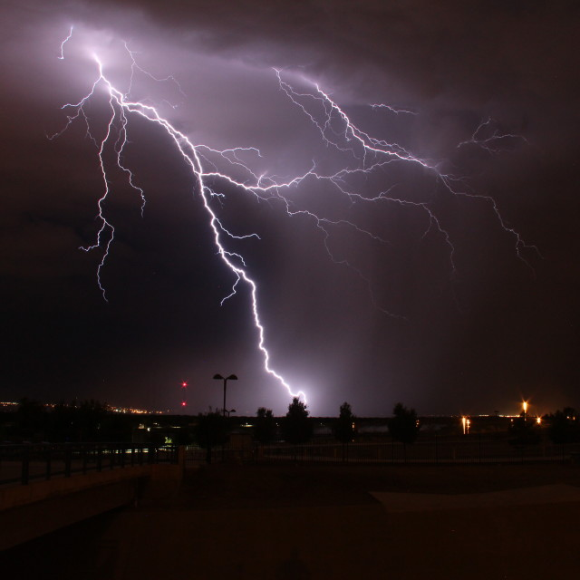 """Lightning in the night"" stock image"