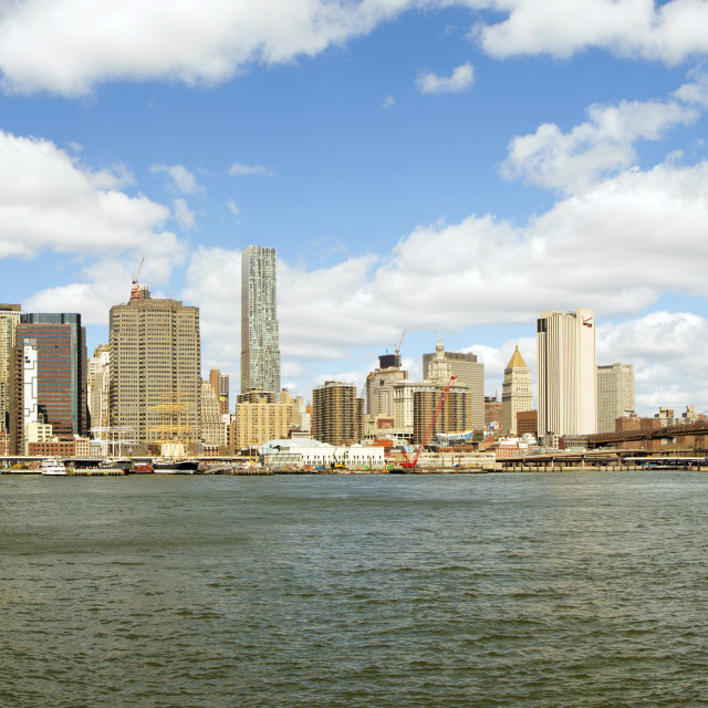 """NY East River"" stock image"