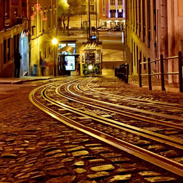 """Lisbon Funicular"" stock image"