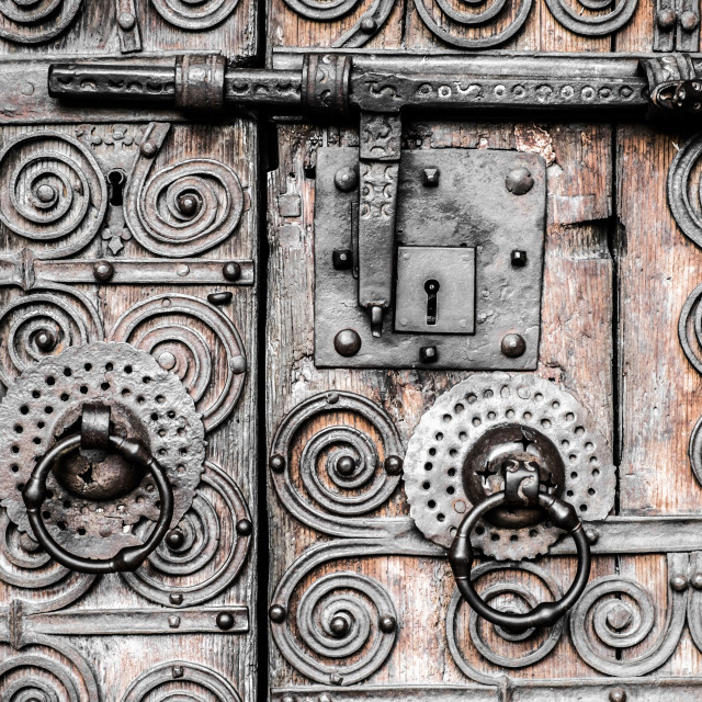 """old door detail"" stock image"