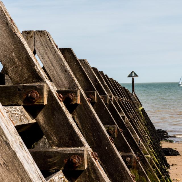 """Beach Breakwater"" stock image"