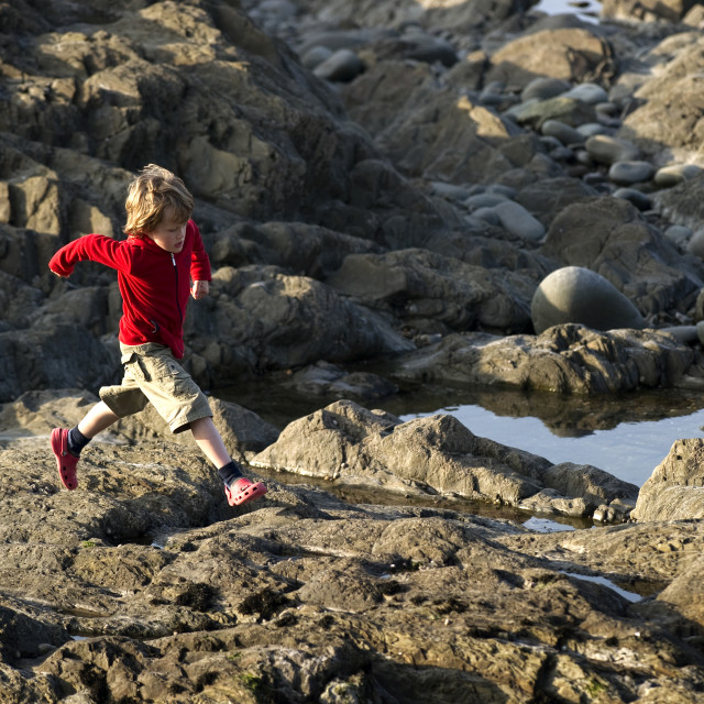 """Rock Hopping"" stock image"