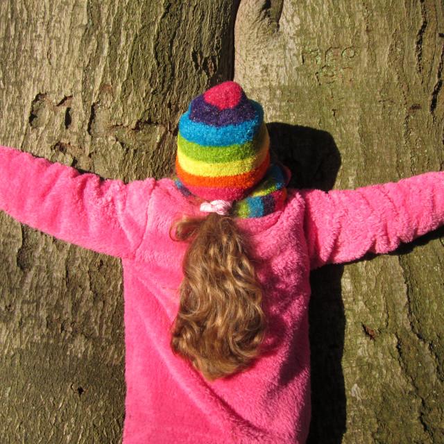 """Tree Hugger"" stock image"