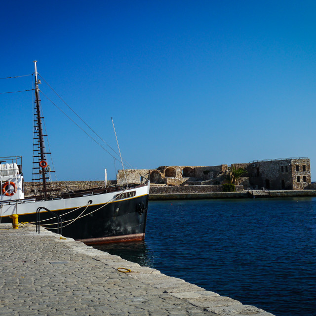 """Chania Harbour"" stock image"