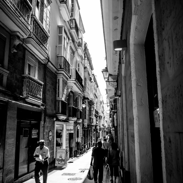 """Street in Cadiz"" stock image"