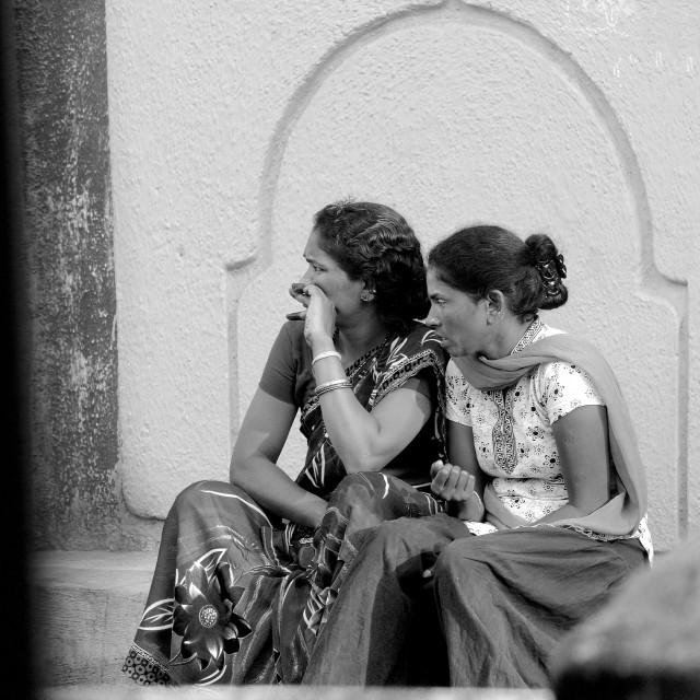 """Gossiping Indian women."" stock image"