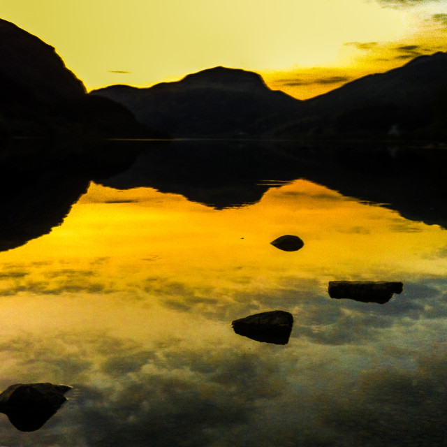 """""""Stepping stones in the clouds"""" stock image"""