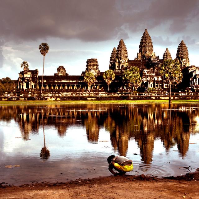 """""""Angkor Wat Alone"""" stock image"""