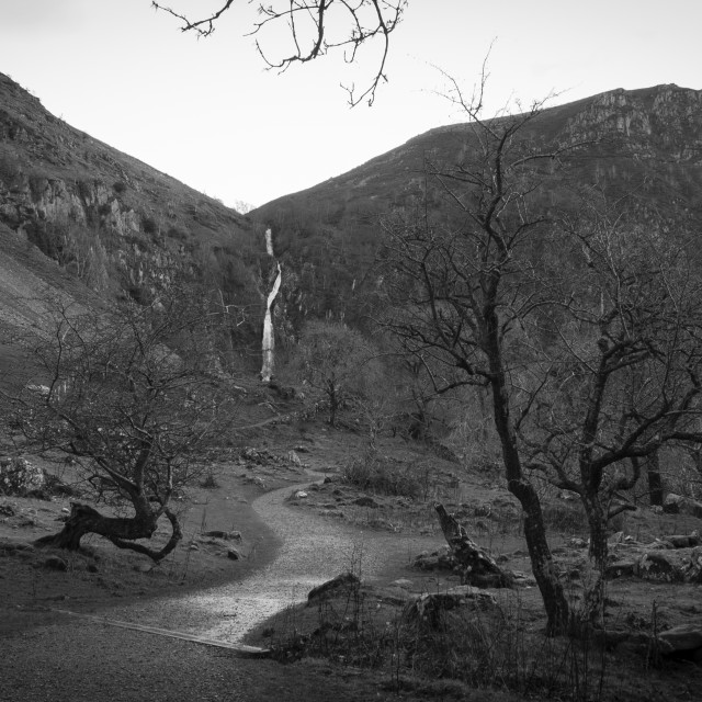 """Abergwyngregyn Falls"" stock image"