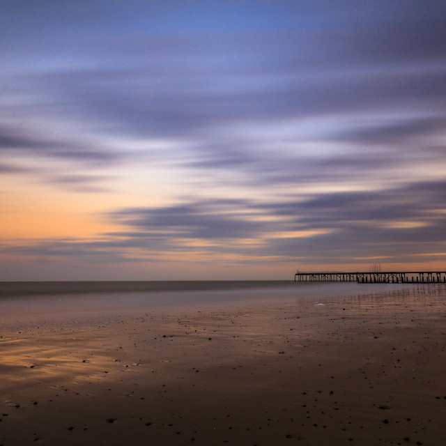 """Low Tide at Dusk"" stock image"