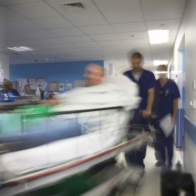 """Busy A&E department"" stock image"